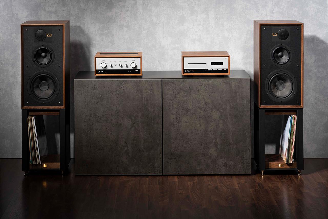 LEAK Stereo 130 und CDT, Wharfedale Linton 85