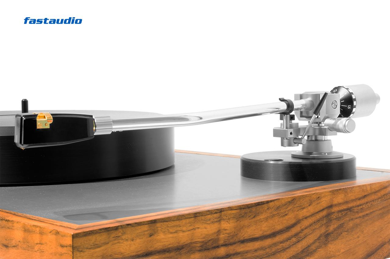 Sorane Tonarm TA-1L, 12 Zoll silber mit Ortofon SPU Tonabnehmer auf stst Plattenspieler